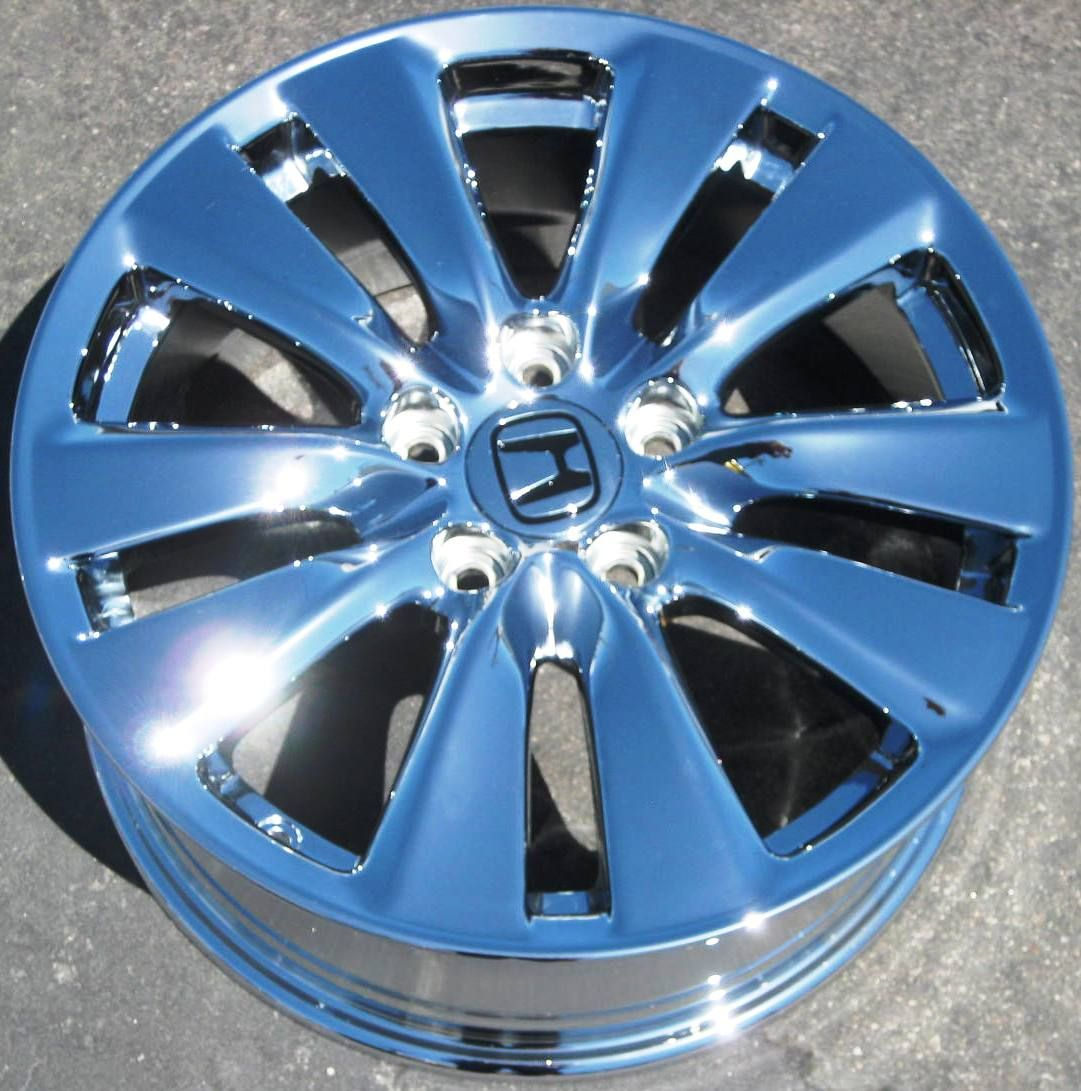 FACTORY HONDA ACCORD CHROME WHEELS RIMS 2011 EXCHANGE = 714 940 1761