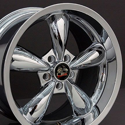 18 9 10 Chrome Bullitt Bullet Style Wheels 05 Rims Fit Mustang® GT